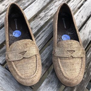 Rockport Gold & Tan New Loafers